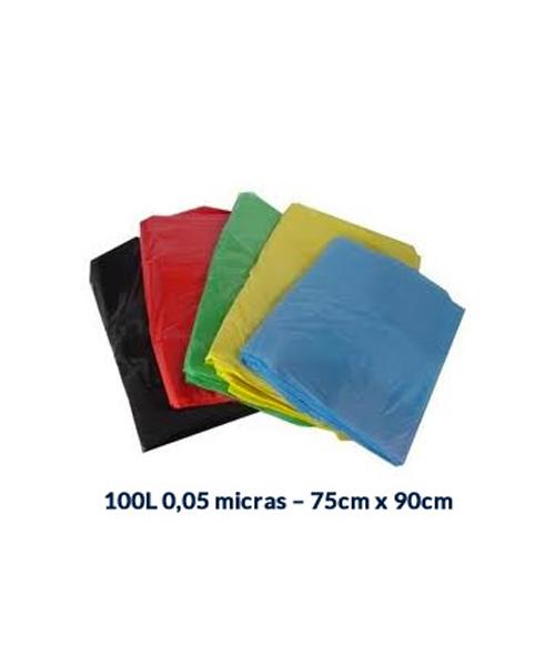 SACO P /LIXO 100L - 0,05 MICRAS - 75CM X 90CM - 100UNI.